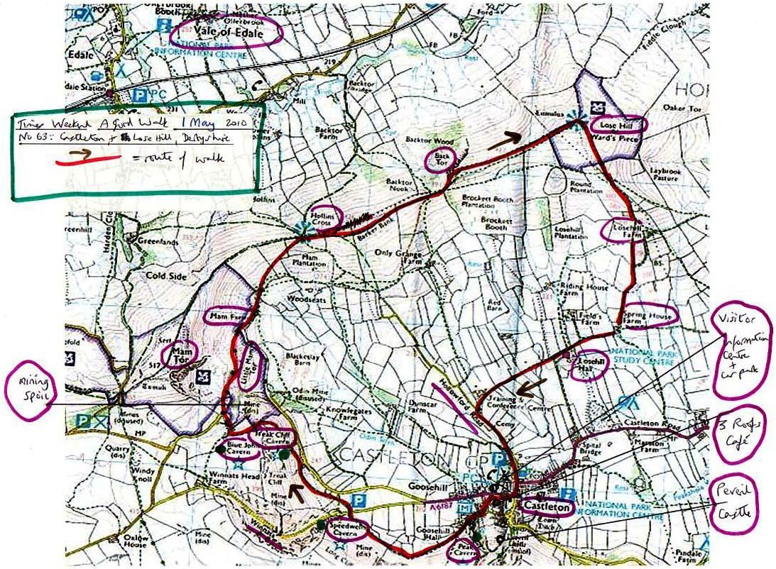 Map Of Castleton Castleton Map Map Of Castleton